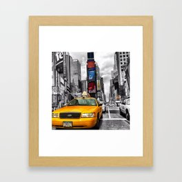 Taxi State of Mind Framed Art Print