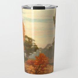 Vintage Fall Painting Travel Mug