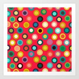 red pop spot Art Print