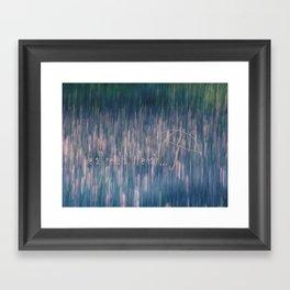 A Little Rain Framed Art Print