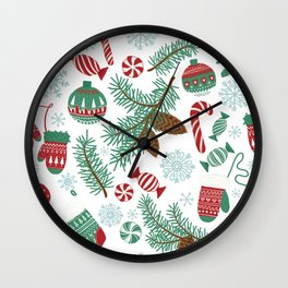 Christmas Pattern 06 Wall Clock