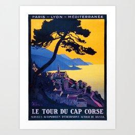 Le Tour Du Cap Corse, French Travel Poster Art Print