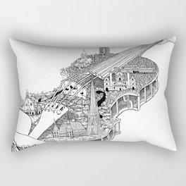 Violin City Rectangular Pillow