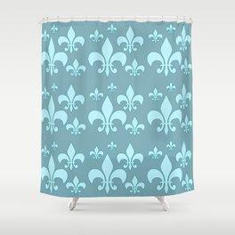 Fleur de lis ...teal Shower Curtain