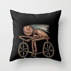 The Biker Throw Pillow