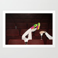 I enjoy going to the cinema. Taking a dress off. Closing my eyes. Watching the Dreamers Art Print