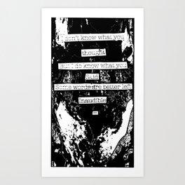 Inaudible... Art Print