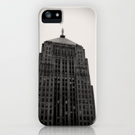 Chicago Board of Trade Building Black and White iPhone Case