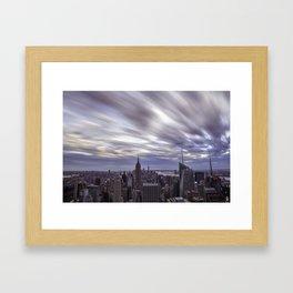 City at Sunset Framed Art Print