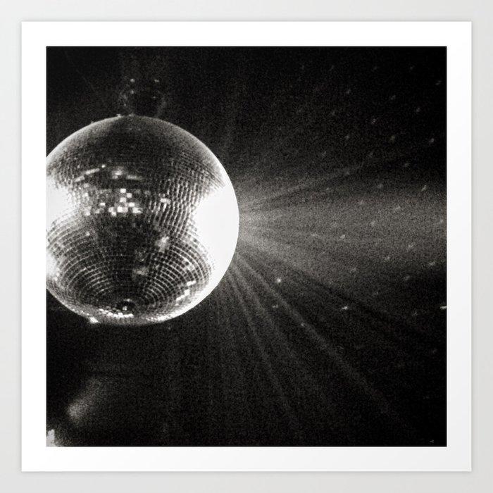 shiny disco ball Kunstdrucke