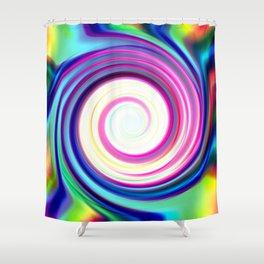 Rainbow Spiral Shower Curtain