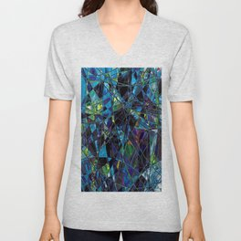 Fragments- Blue Mosaic  Unisex V-Neck
