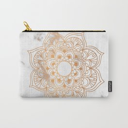Copper flower mandala - marble Carry-All Pouch