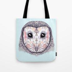 Sugar Skull Labyrinth Owl Tote Bag