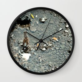 Bird in Bucharest Wall Clock