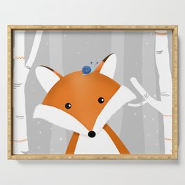Fox and snail Serving Tray