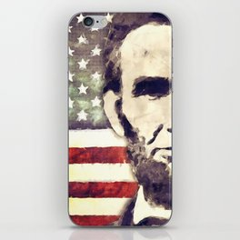 Patriot President Abraham Lincoln iPhone Skin