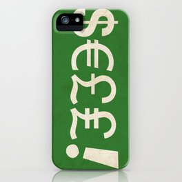Subliminal Currency iPhone Case