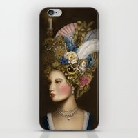 marie antoinette iPhone & iPod Skins featuring Marie Antoinette by Stephanie Sanchez