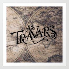 As Travars - To travel (map) Art Print