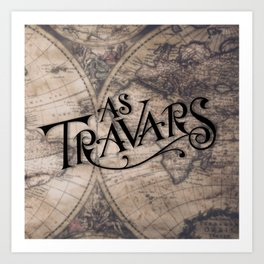 As Travars - To travel (map) Art Print