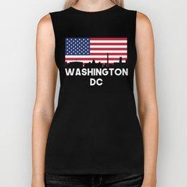 Washington DC American Flag Skyline Biker Tank