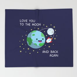 Love You to the Moon and Back Again Throw Blanket