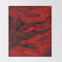 Blood Red Marble Throw Blanket