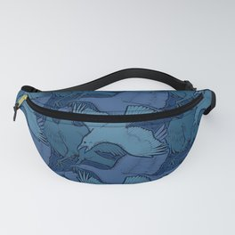 Crow Pattern Fanny Pack