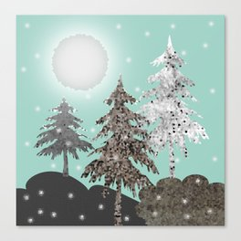 Christmas night 2 Canvas Print