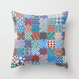 Pattern Patchwork Puzzle Throw Pillow