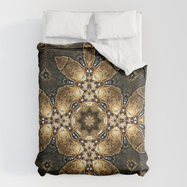 Golden Tribal Abstract Pattern Comforters