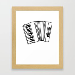 Accordion Player Melodeon Piano Accordionist Gift Framed Art Print