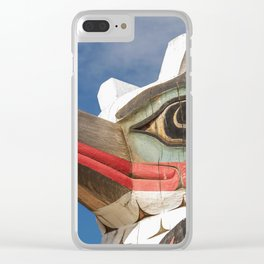 Carved Totem Pole Clear iPhone Case
