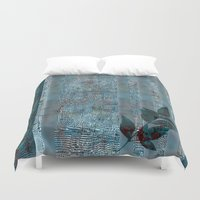 leaf Duvet Covers featuring Leaf by dominiquelandau