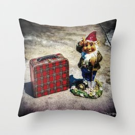 Gnome Schooled Throw Pillow
