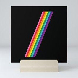 Rainbow Slash Mini Art Print