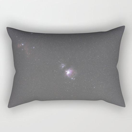 Orion Running Man flame and Horsehead Nebula's Rectangular Pillow