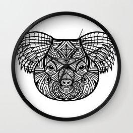 Koala Mandala Wall Clock