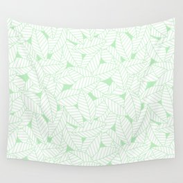 Leaves in Wintergreen Wall Tapestry