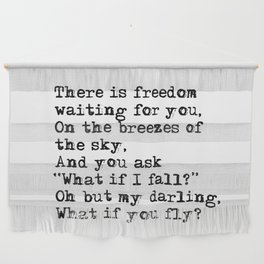 What if you fly? Vintage typewritten Wall Hanging