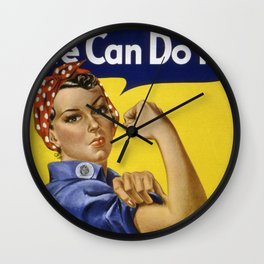 We Can Do It! Wall Clock