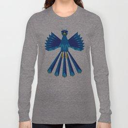 Geometric Phoenix (Blue) Long Sleeve T-shirt