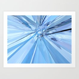 Blue Crystals Art Print
