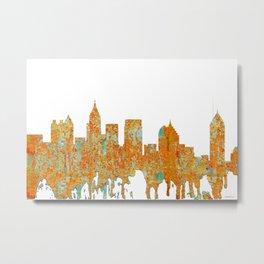 Atlanta, Georgia Skyline - Rust Metal Print