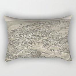 Vintage Pictorial Map of Monticello FL (1885) Rectangular Pillow