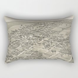 Vintage Pictorial Map of Monticello FL (1885) Rectangular Pillow