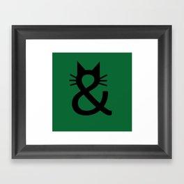 Meow & Meow Framed Art Print