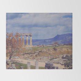 Ancient Corinth Throw Blanket