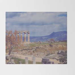 Ancient Corinth Throw Blanket